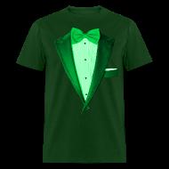 T-Shirts ~ Men's T-Shirt ~ St. Paddys Green Tuxedo Tux