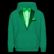 Hoodies ~ Men's Hoodie ~ St. Paddys Green Tuxedo Tux