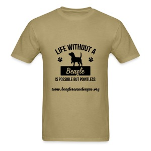 Life Without a Beagle... - Men's T-Shirt
