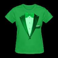 T-Shirts ~ Women's T-Shirt ~ St. Paddys Green Tuxedo Tux