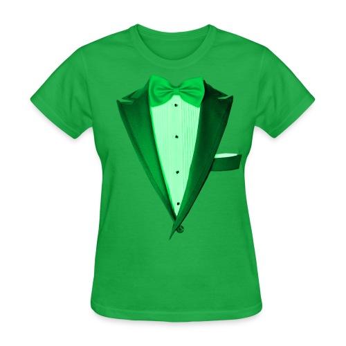 St. Paddys Green Tuxedo Tux - Women's T-Shirt