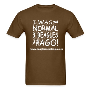 I was Normal 3 Beagles Ago - Men's T-Shirt