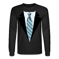 Long Sleeve Shirts ~ Men's Long Sleeve T-Shirt ~ Coat and Tie with Striped Suit and tie.