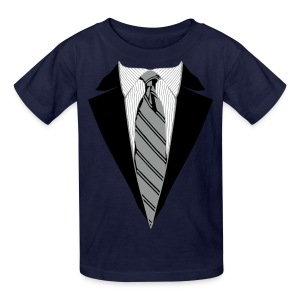 Coat and Tie with Striped Suit and tie. - Kids' T-Shirt