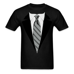 Coat and Tie with Striped Suit and tie. - Men's T-Shirt