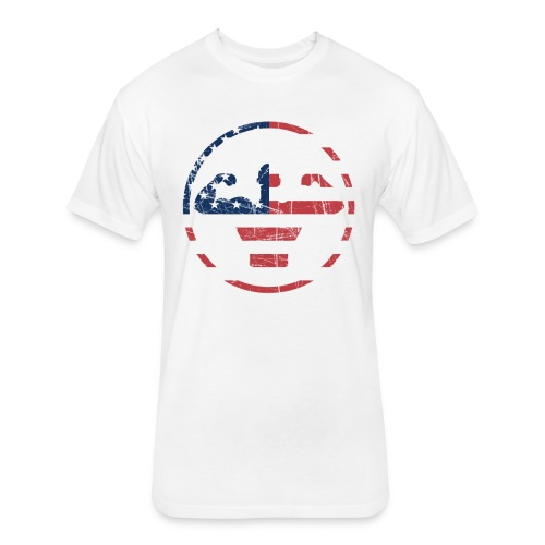 American Flex - Fitted Cotton/Poly T-Shirt by Next Level