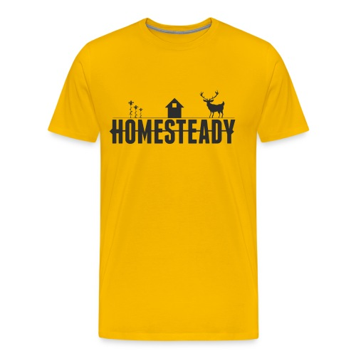 Homesteady Classic Logo - Yellow Tee - Men's Premium T-Shirt