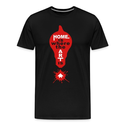 HOME IS - front print - s/5xl - Men's Premium T-Shirt