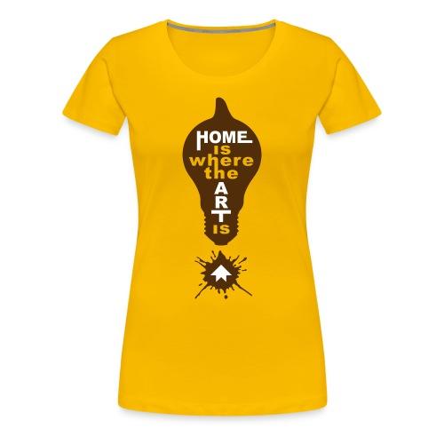 HOME IS - front print - s/3xl - Women's Premium T-Shirt