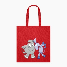 Elephant and Donkey Face to Face Bags & backpacks