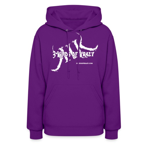 3 Kinds of Krazy ( WOMENS)  hoodie with white logo - Women's Hoodie