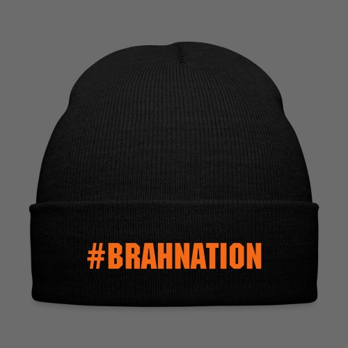 BrahNation Beanie  - Knit Cap with Cuff Print