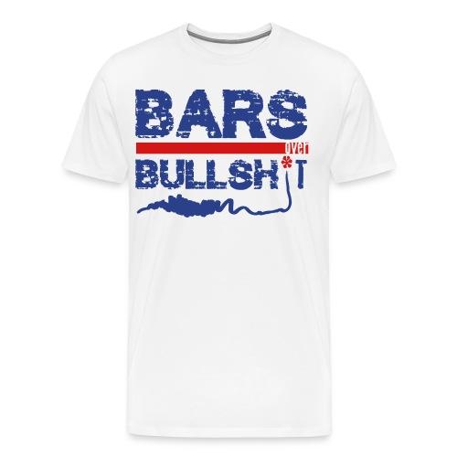 Bars Over Bullsh*t T-shirt - Men's Premium T-Shirt