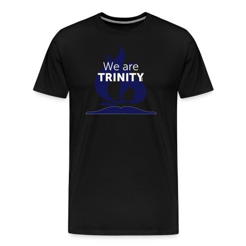 We are Trinity (Blue-on-Black) - Men's Premium T-Shirt