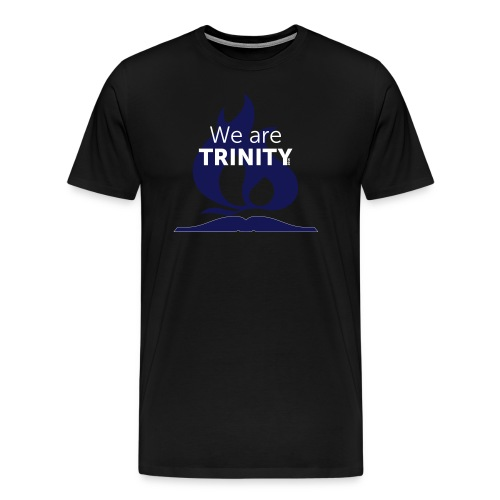 We are Trinity (Blue-on-Black) - Men's Premium T-Shirt