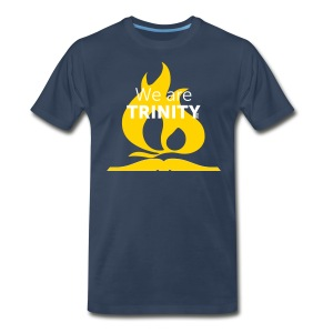 We are Trinity (Yellow on Blue) - Men's Premium T-Shirt