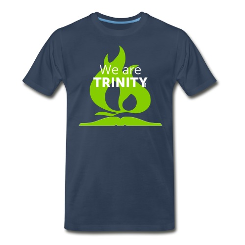 We are Trinity (Green on Blue) - Men's Premium T-Shirt