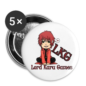 Lord Karu Games 5-Pack of buttons Style #2 2-1/4  - Large Buttons