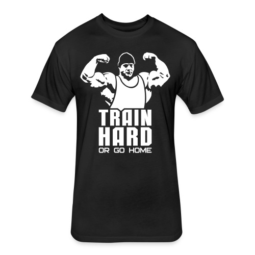 Train Hard - Fitted Cotton/Poly T-Shirt by Next Level