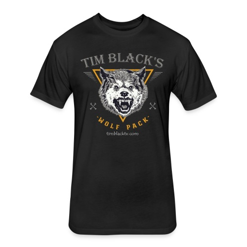 Tim Black Wolf Pack Fitted Tee - Fitted Cotton/Poly T-Shirt by Next Level