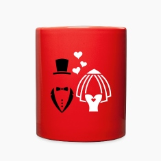 Wedding - Bride And Groom Celebration Mugs & Drinkware