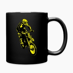 enduro jump yellow Mugs & Drinkware