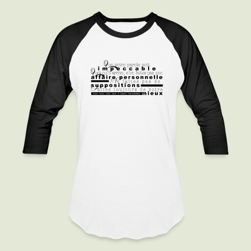 4 Accords Toltèques - Baseball T-Shirt