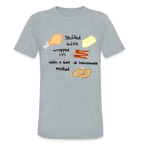 chicken bacon simple tee - Unisex Tri-Blend T-Shirt