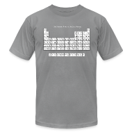 T-Shirts ~ Men's T-Shirt by American Apparel ~ Periodic Table of Detroit Hockey