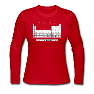 Long Sleeve Shirts ~ Women's Long Sleeve Jersey T-Shirt ~ Periodic Table of Detroit Hockey