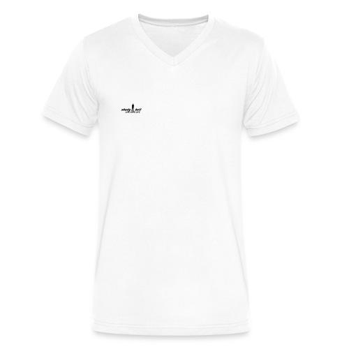 t-shirt - Men's V-Neck T-Shirt by Canvas
