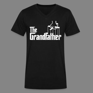 Men's Grandfather V-Neck T-Shirt - Men's V-Neck T-Shirt by Canvas