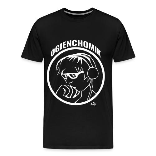 OgienChomik Men's Premium T-Shirt - White Design - Men's Premium T-Shirt