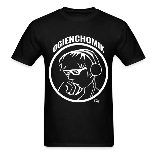 OgienChomik Men's Gildan T-Shirt - White Design - Men's T-Shirt
