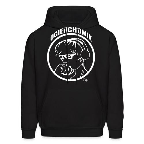 OgienChomik Men's Hanes Hoodie - White Design - Men's Hoodie