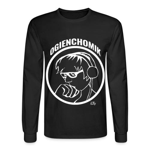 OgienChomik Men's Long Sleeve - White Design - Men's Long Sleeve T-Shirt