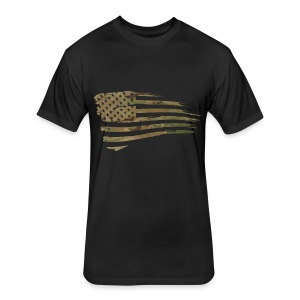 Tactical Athlete Battle Flag Men's T-shirt - Fitted Cotton/Poly T-Shirt by Next Level
