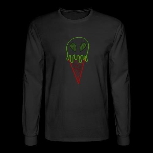 Alien Cone, Black - Men's Long Sleeve T-Shirt