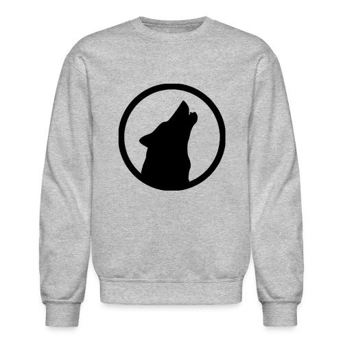 Howling Wolf Crewneck Sweatshirt Black - Crewneck Sweatshirt
