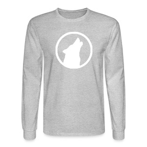 Howling Wolf Men's Long Sleeve T-Shirt White - Men's Long Sleeve T-Shirt