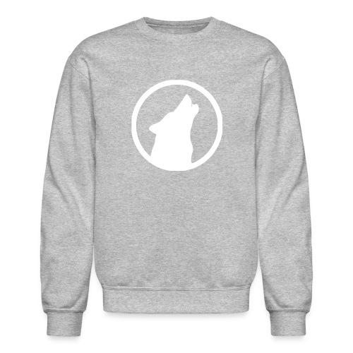 Howling Wolf Crewneck Sweatshirt White - Crewneck Sweatshirt