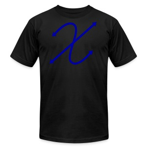 (Blue) Logo Tee  - Men's T-Shirt by American Apparel