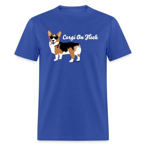 Men's Small Corgi Corgi On Fleek T-Shirt, Royal Blue - Men's T-Shirt