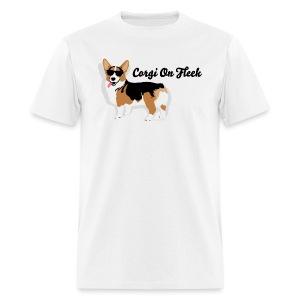 Men's Small Corgi Corgi On Fleek T-Shirt, White - Men's T-Shirt