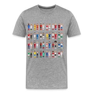 Pixels footballers - Men's Premium T-Shirt