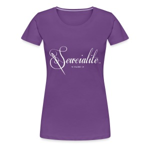 Sewcialite Whiteprint Fitted Tee - Women's Premium T-Shirt