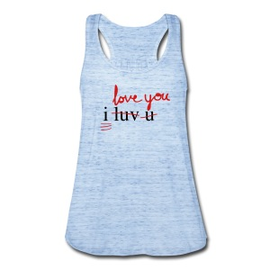 i luv u blue tank - Women's Flowy Tank Top by Bella