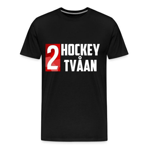 HockeyTvåan T-shirt Svart - Men's Premium T-Shirt