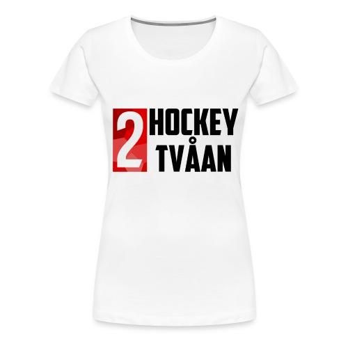 HockeyTvåan T-shirt Vit - Women's Premium T-Shirt
