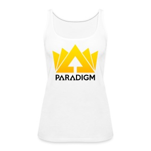 PARADIGM - Women's Tank Top (White) - Women's Premium Tank Top